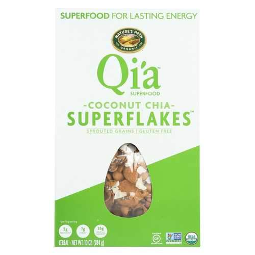 Nature's Path Organic Qi'A Superflakes - Coconut Chia - Case of 12 - 10 oz.
