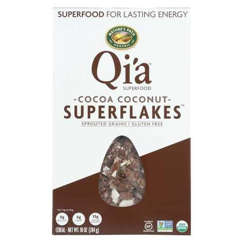 Nature's Path Organic Qi'A Superflakes - Cocoa Coconut - Case of 12 - 10 oz.