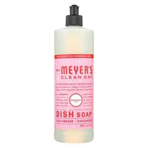 Mrs. Meyers Clean Day - Liquid Dish Soap - Peppermint - Case of 6 - 16 FZ