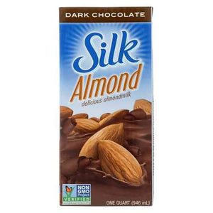 Silk Almond Milk - Aseptic - Dark Chocolate - Case of 6 - 32 fl oz