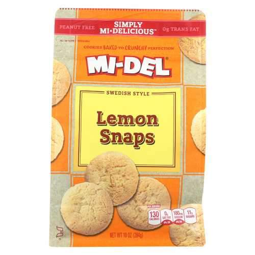 Midel Cookies - Lemon Snaps - Case of 8 - 10 oz