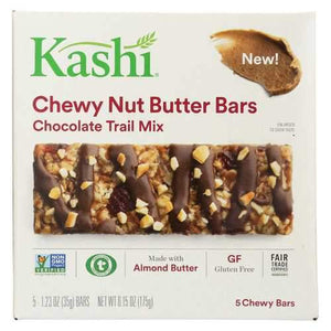 Kashi Chewy Nut Butter Bar - Chocolate Trail Mix - Case of 8 - 5/1.23oz