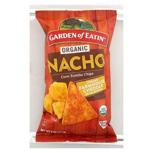 Garden Of Eatin' Chips - Organic - Nacho - Tortilla - Case of 12 - 5 oz