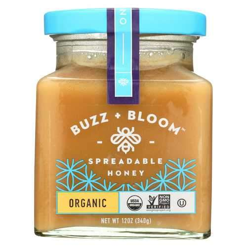 Buzz and Bloom Honey - Spreadable - Case of 6 - 12 oz