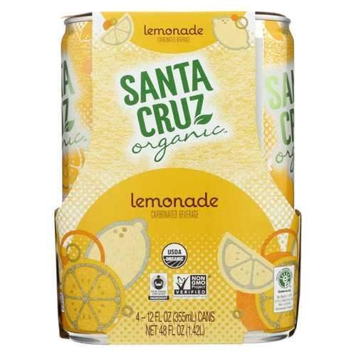 Santa Cruz Organic Lemonade - Organic - Sparkling - Case of 6 - 4/12 fl oz