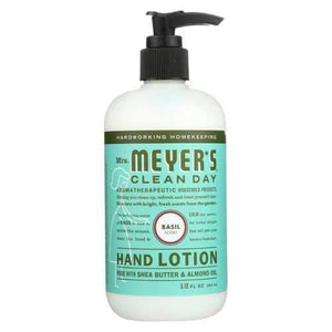 Mrs.Meyers Clean Day Hand Lotion - Basil - Case of 6 - 12 fl oz