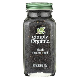 Simply Organic Spice - Organic - Sesame Seed - Black - Case of 6 - 3.28 oz
