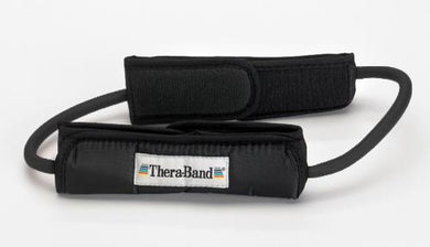 Theraband Prof Resist Tubing Loop w/Padded Cuffs Black