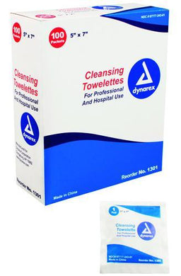 Towellette  Cleansing  Bx/100 5 x7