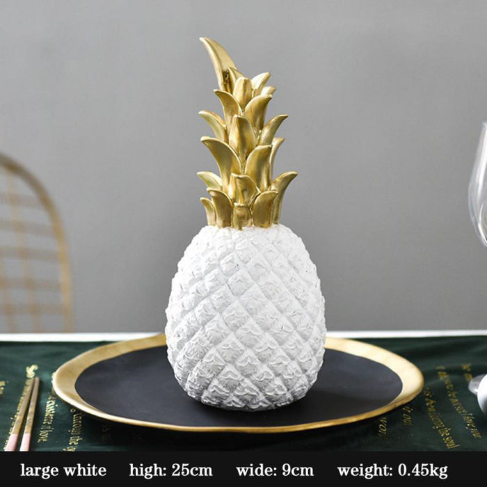 Gold and Black Pineapple Home Deco