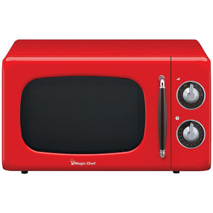 Magic Chef .7 Cubic -ft 700-watt Retro Microwave (red)