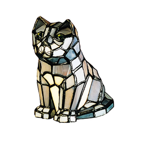 Tiffany Cat Glass Accent Lamp  FREE Shipping