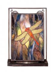 Tiffany Dragonfly Lighted Mini Tabletop Window FREE Shipping