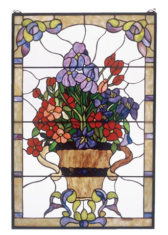 Tiffany Floral Stained Glass Window + Shipping
