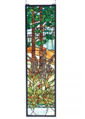 Tiffany Foxgloves Stained Glass Window  FREE Shipping