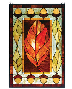 Tiffany Harvest Festival Stained Glass Window  + Shipping
