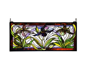 Tiffany Lady Slippers Stained Glass Window  + Shipping