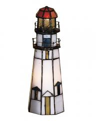 Tiffany Marble Head Lighthouse Accent Lamp   FREE Shipping