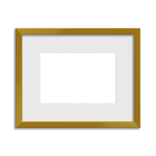 Metallic Frame // Gorgeous Gold