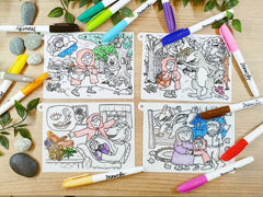 DrawnBy: Silicone Story Mat - Little Red Riding Hood