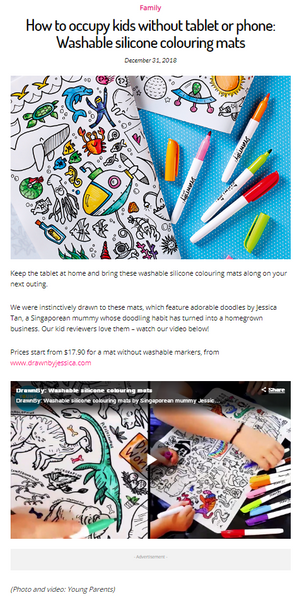 Young Parents Magainze Feature on DrawnBy:
