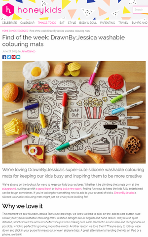 Find of the week: DrawnBy:Jessica washable colouring mats