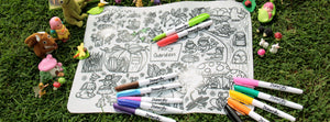 DrawnBy: Jessica Fairy Garden Reusable Silicone Colouring Mat