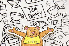 Tea Party DrawnBy: Colouring Mat