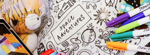 DrawnBy: Jessica Space Adventures Reusable Silicone Colouring Mat