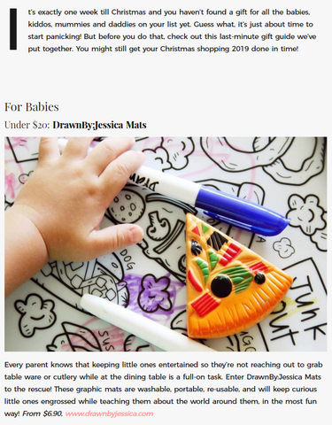 DrawnBy: in Singapore Motherhood Under $20 Gift Guide (Babies)