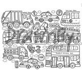 City Services Silicone Colouring Mat