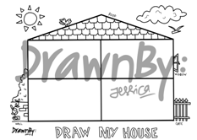 Draw My House Washable Silicone Drawing Mat