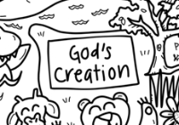 God's Creation Washable Silicone Colouring Mat