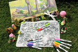 Fairy Garden Washable Silicone Colouring Mat