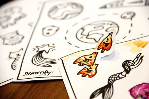 Colouring Stickers (Set of 3)