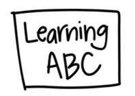 Learning ABC Washable Silicone Colouring Mat