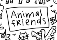Animal Friends Washable Silicone Colouring Mat