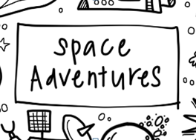 Space Adventures Washable Silicone Colouring Mat
