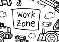 Work Zone Washable Silicone Colouring Mat
