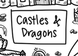Castles&Dragons Washable Silicone Colouring Mat