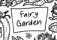 Fairy Garden Silicone Colouring Mat