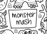 Monster Mash Washable Silicone Colouring Mat