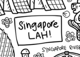 Singapore LAH! Silicone Colouring Mat