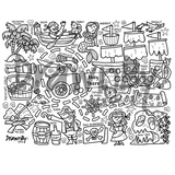 Ahoy There Silicone Colouring Mat