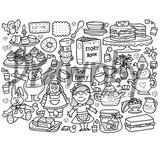 Tea Party Silicone Colouring Mat