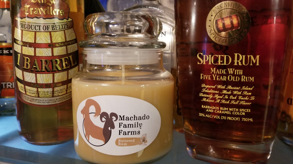 Buttered Rum Medium Candle - Machado Family Farm