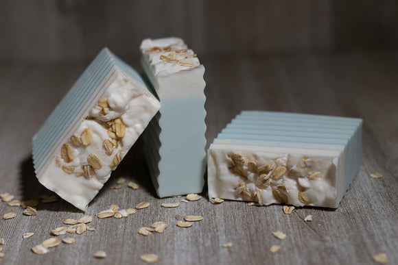 Baby Powder Oatmeal Shea Butter Goats Milk Soap Bar - Machado Family Farm