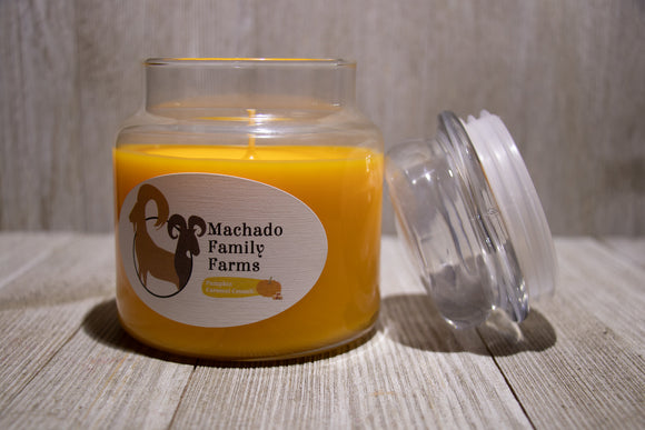 Pumpkin Caramel Crunch Medium Candle with Lid - Machado Family Farm