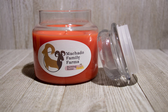 Burning Rome Medium Candle with Lid - Machado Family Farm