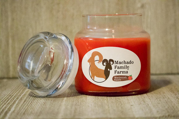 Macintosh Apple 14oz Candle with Lid - Machado Family Farm